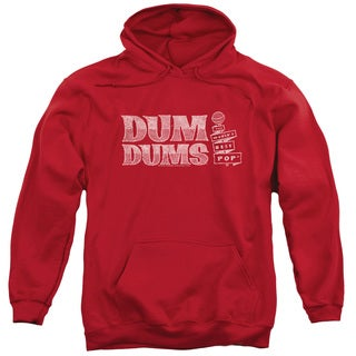 Dum Dums/World's Best Adult Pull-Over Hoodie in Red