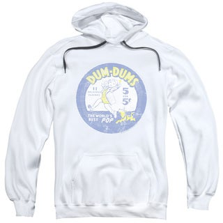 Dum Dums/Pop Parade Adult Pull-Over Hoodie in White