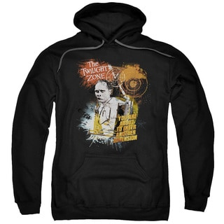 Twilight Zone/Enter At Own Risk Adult Pull-Over Hoodie in Black