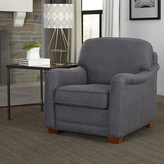 Magean Grey Upholstered Stationary Chair