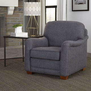 Magean Grey Upholstered Stationary Chair by Home Styles