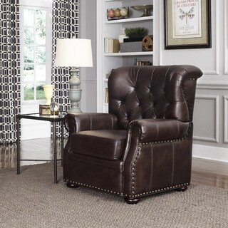 Melissa Espresso Bonded Leather Stationary Chair