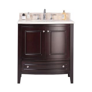 Silkroad exclusive 32 inch travertine stone top bathroom - Bathroom vanities 32 inches wide ...