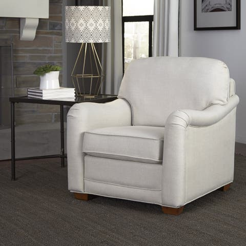 Heather Ivory Upholstered Stationary Chair by Home Styles