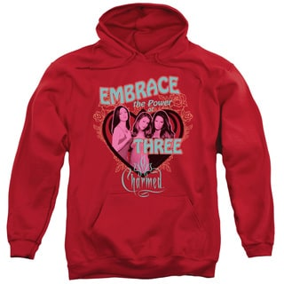 Charmed/Embrace The Power Adult Pull-Over Hoodie in Red