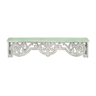 Storage Wood Wall 48-inch x 8-inch x 10-inch Top Shelf With Intricately Designed Woodwork