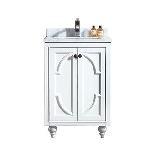 Odyssey Collection Grey, White Maple, Marble and Wood Vanity Floor Cabinet
