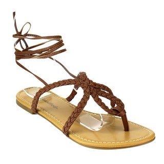 Beston Women's Braided Flat Sandals