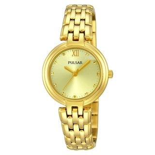 Pulsar Women's Goldtone Stainless Steel Bracelet Watch