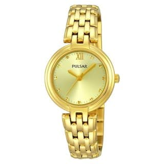Pulsar Women's Goldtone Stainless Steel Bracelet Watch|https://ak1.ostkcdn.com/images/products/11845584/P18748227.jpg?impolicy=medium