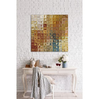 Mark Lawrence 'Tile Art 5, 2013.' Giclee Stretched Canvas Wall Art