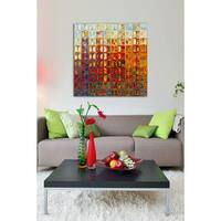 Mark Lawrence 'Modern Mosaic Tile Wall Art #1, 2015' Giclee Stretched Canvas Wall Art