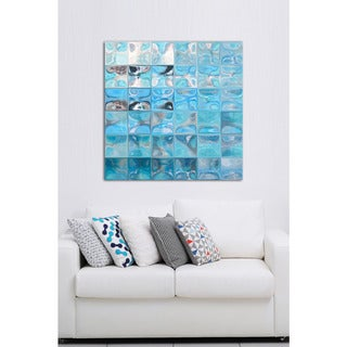 Mark Lawrence 'Tile Art #4 2015' Giclee Stretched Canvas Wall Art