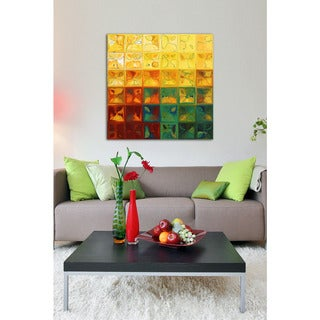 Mark Lawrence 'Tile Art #3 2015' Giclee Stretched Canvas Wall Art