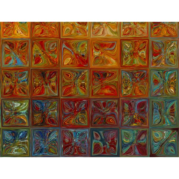 Mark Lawrence Modern Mosaic Tile Wall Art 2 2015 Giclee Stretched Canvas Wall Art Overstock 11845704