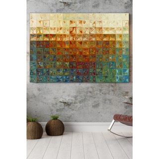 Mark Lawrence 'Modern Mosaic Tile Wall Art #2, 2015' Giclee Stretched Canvas Wall Art