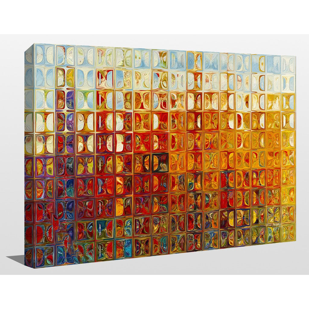 Mark Lawrence Modern Mosaic Tile Wall Art 1 2015 Giclee Stretched Canvas Wall Art Overstock 11845705