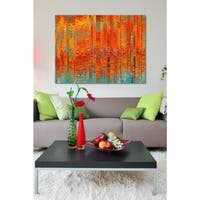 Mark Lawrence 'God Is A Friend Of Mine. Psalm 54:4.' Giclee Stretched Canvas Wall Art