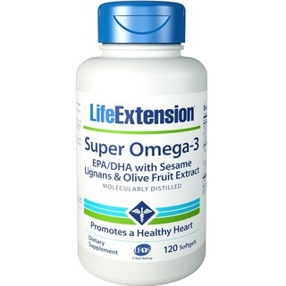Life Extension Super Omega-3 EPA/DHA Supplement (120 Softgels)