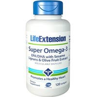 Life Extension Super Omega-3 EPA/DHA Supplement (120 Softgels)