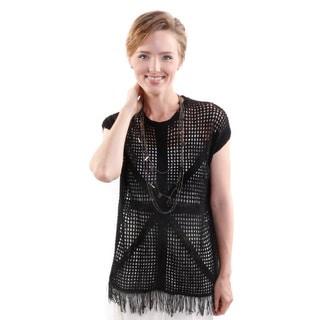 Hadari Women's Round Neck Sleeveless Knit Fashion Top (One Size)