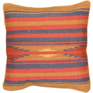 eCarpetGallery Hand-made Brown/Pink Wool Ottoman Kilim Cushion Cover (1'5 x 1'5)