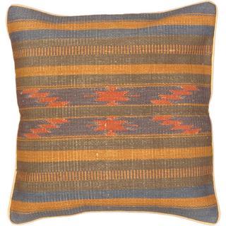 eCarpetGallery Ottoman Handmade Blue/Purple Wool Kilim Cushion Cover (1'5 x 1'5)