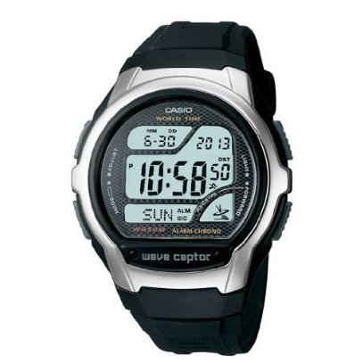 Casio Mens Waveceptor Digital Atomic Sport Watch (Black),...