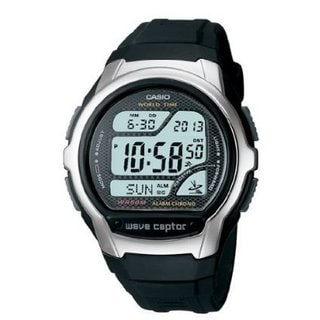 Casio Mens Waveceptor Digital Atomic Sport Watch