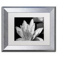 Kurt Shaffer 'Water Lily in Black and White' Matted Framed Art