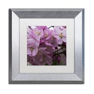Kurt Shaffer 'Cherry Blossom Cluster' Matted Framed Art