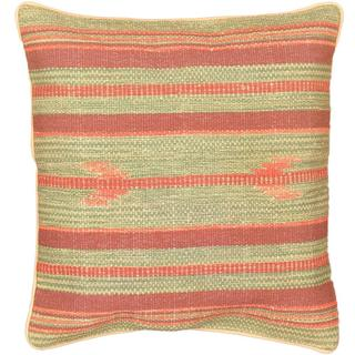 eCarpetGallery Green Wool Ottoman Hand-made Kilim Cushion Cover