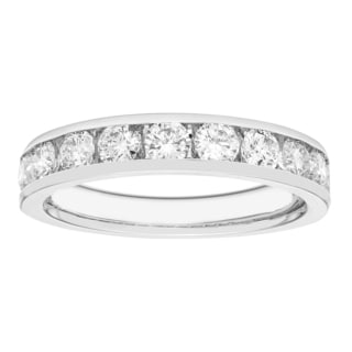 Boston Bay 14k White Gold 1ct TDW Diamond Anniversary Band (H-I, I1-I2)