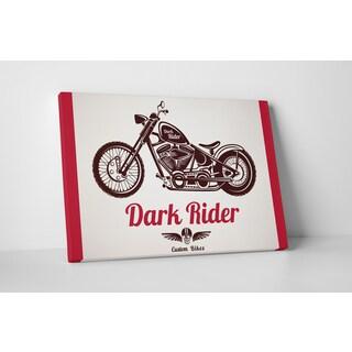 Motorcycle Pop Art 'Dark Rider' Gallery Wrapped Canvas Wall Art