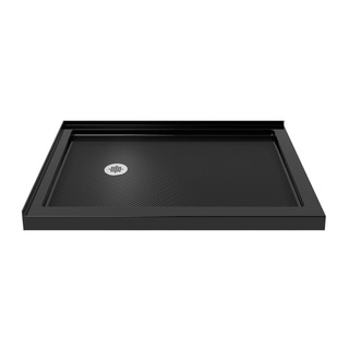 DreamLine SlimLine 34 x 48-inch Double Threshold Black Shower Base