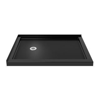 DreamLine SlimLine 34 x 48-inch Double Threshold Black Shower Base