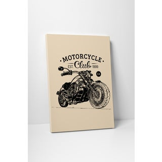 Motorcycle Pop Art 'Motorcycle Club' Gallery Wrapped Canvas Wall Art
