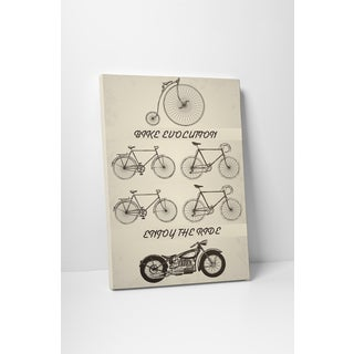 Motorcycle Pop Art 'Bike Evolution' Gallery Wrapped Canvas Wall Art