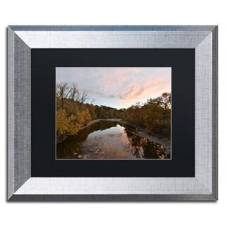 Kurt Shaffer 'Rocky River Autumn Sunset' Matted Framed Art
