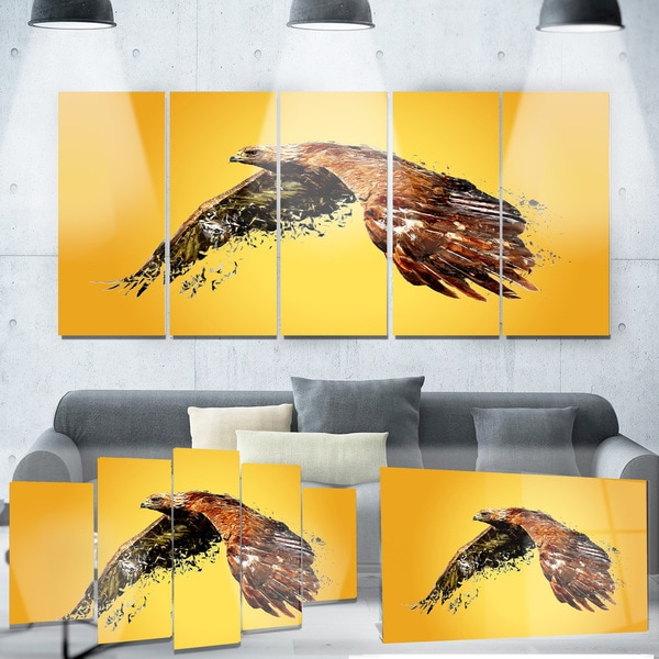 Designart \'Soaring Eagle\' Animal Metal Wall Art - Free Shipping ...