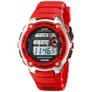 Casio Mens Multi-Task Gear Waveceptor Red Sports Watch