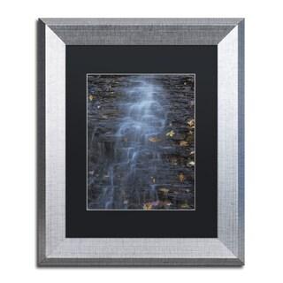 Kurt Shaffer 'Blue Hen Falls Abstract' Matted Framed Art