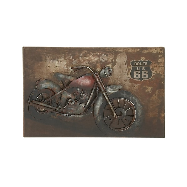 Shop Astute and Artistic Metal Motorcycle Wall Decor - On Sale ...