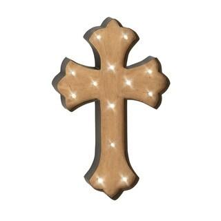 Artistically Designed Metal Lite Wall Cross