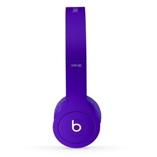 Dre Beats Matte Purple Reconditioned Solo Wired Headphones