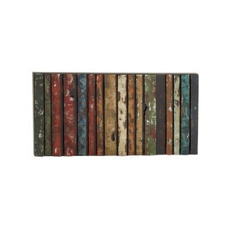 Multi-Colored Metal Abstract Rectangular Wall Decor