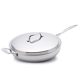 USA Pan 5-Ply 13-inch Stainless Steel Covered Chef's Pan