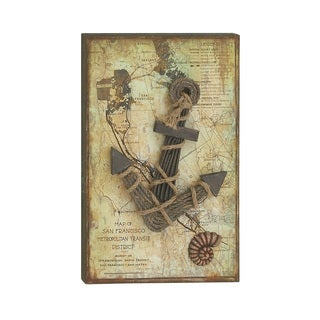 19-inch x 30-inch Wood Nautical Rope Wall Decor