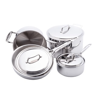 USA Pan 8-piece Stainless Steel Cookware Set