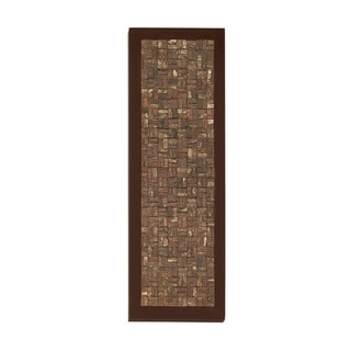 Natural Wood Square Bark Plaque